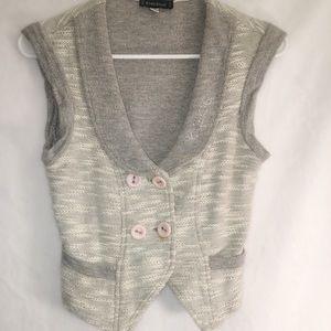 Bebe vest/jacket gray